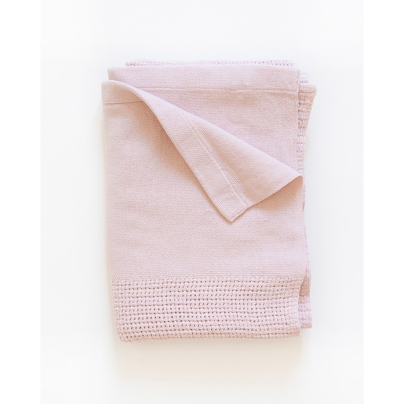 ORGANIC COTTON CELLULAR BABY BLANKET